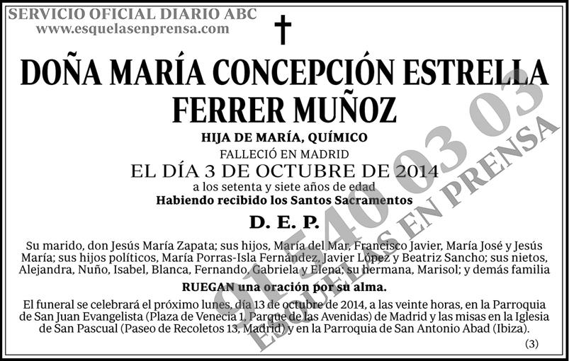 María Concepción Estrella Ferrer Muñoz